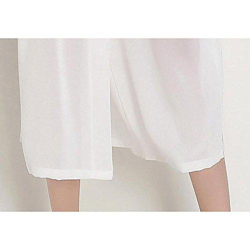 HXQ Albornoces de Mujer Imitación de Vestidos de Seda Chiffon Lace Pijamas Sexy Albornoces , white White