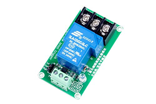 KNACRO 1-Channel DC 12V Relay Module High/Low Level Triggering Optocoupler Isolation Load 30A DC 30V/AC 250V for PLC Automation Control, Industrial System Control, Arduino (12V, 1-Channel)