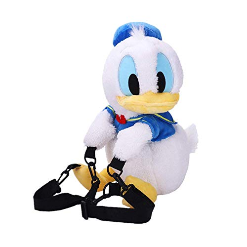 YOURNELO Girl's Lovely Cartoon Cute Donald Duck Funny Plush Backpack Leisure Bag (Donald Duck)