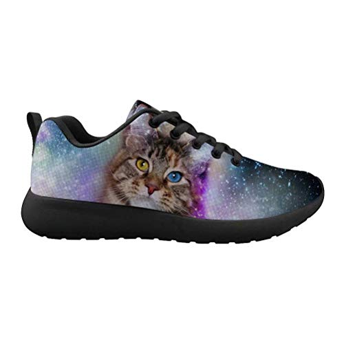 Beauty Collector Personalized Lightweight Walking Shoes Galaxy Cat Pattern Trainer Outdoor Gym Shoes