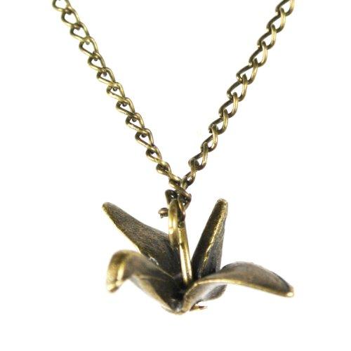 Wrapables Vintage Origami Crane Pendant Necklace