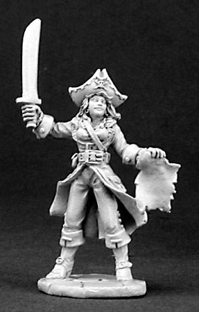 Reaper Miniatures Vandora Waverunner, Pirate #03155 Dark Heaven Unpainted Metal