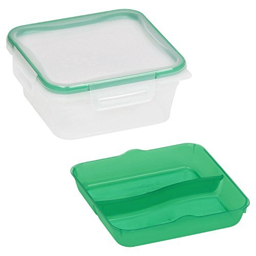 Snapware Total Solutions 5 Cup 1.26L Square with Divided Tray (Snapware Divided)