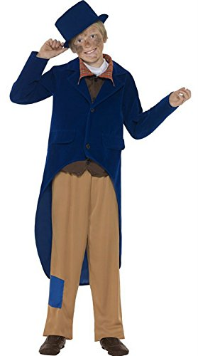 Smiffy's Little Boys' Dickensian Victorian School Book Week Fancy Dres Costume Age 4-6 Years Blue And ()