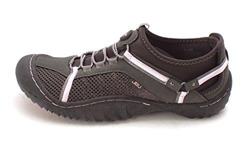 JBU by Jambu Women's Tahoe Max Sneaker, Charcoal/Pink, 7.5 M US