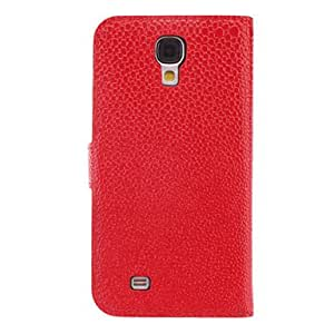 Buy Snakeskin Grain PU Leather Case with Mustache for Samsung Galaxy S4 I9500