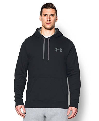 Under Armour Men's Rival Fleece Hoodie, Black/Graphite, XX-L