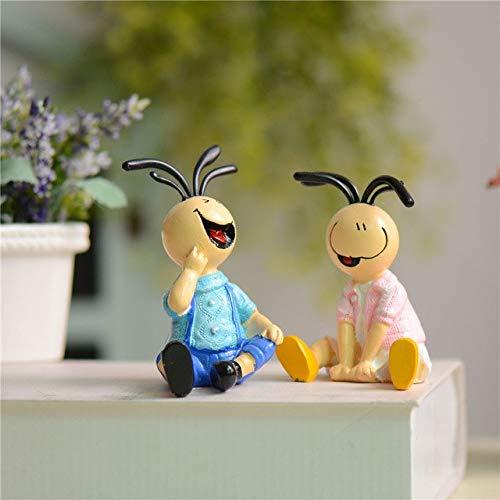 AMZLUCKY - Noodles Hair Couple Figurines Villain Resin
