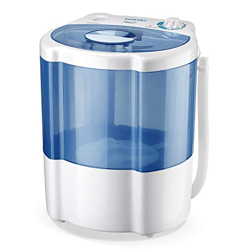 MIKIKI Mini Washing Machine for Compact Laundry, Portable Washing Machine Small Semi-Automatic Compact Washer with Timer Control, Blue