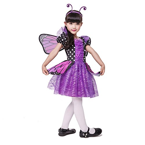 Seasons Direct Halloween Girl Brilliant Butterfly Purple Costume with Wing & Headband - http://coolthings.us