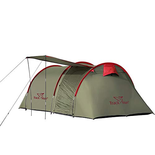 Track Man 4-6 Persons Family Tent,Dark Green,2-Room