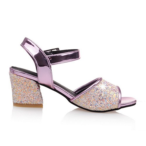 1TO9 Womens Non-Marking Studded Dress Urethane Sandals MJS03278 Pink Z15AU