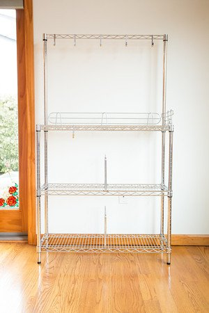 21'' Deep x 60'' Wide x 54'' High Chrome Bakers Rack