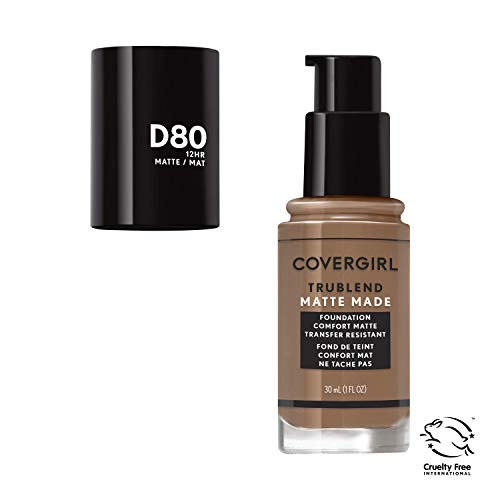 Covergirl Trublend Matte Made Liquid Foundation, D80 Soft Sable, 1.014 Ounce
