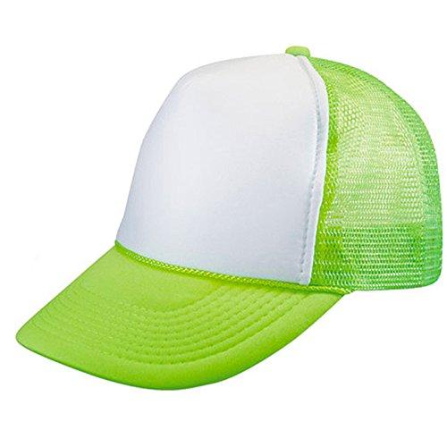 2 Packs NEON Baseball Caps Blank Trucker Hats Summer Mesh Bachelorette Capl (2 FOR Price of 1) (NEON - GREEN/WHITE)]()