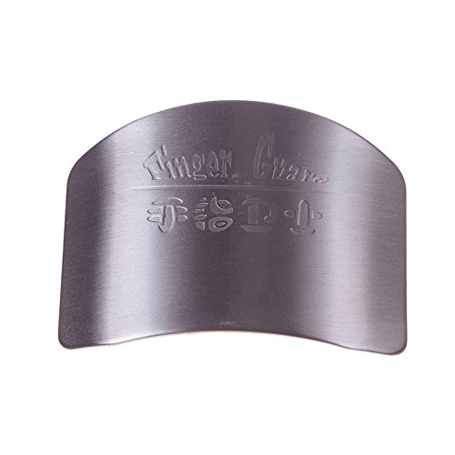 (ShineIn Stainless Steel Finger Protector Kitchen Tool Safe Chop Hand Guard Slice)