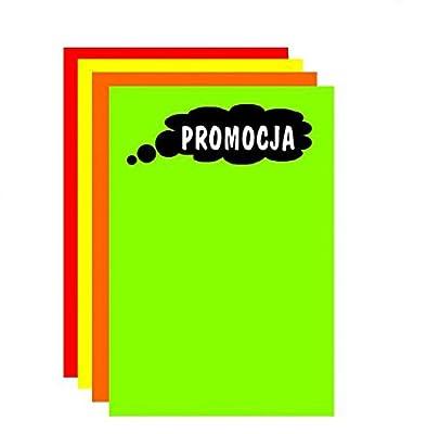DRY WIPE LAMINATED PROMOTION PRICE BOARD /'PROMOCJA/' B2 70CM X 50CM