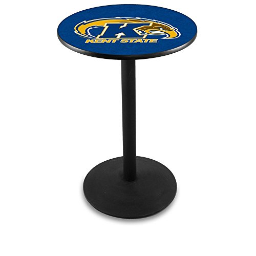 """Holland Bar Stool L214B Kent State University Officially Licensed Pub Table, 28"""" x 42"""", Black"""
