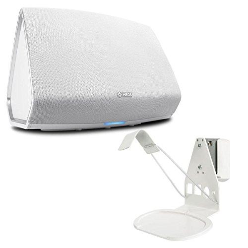 Denon HEOS 5 Wireless Multi-Room Sound System - Series 2 (White) with SoundXtra Wall Mount for Denon HEOS 3 (White)