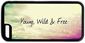 WMSHOPE? iPhone 4 4s Case Cover YOUNG WILD AND FREE