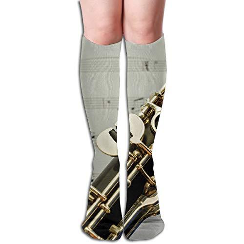 - YangAme Clarinet Keys Music 50 Full Comfort Knee High Socks Cotton Long Knee High Socks