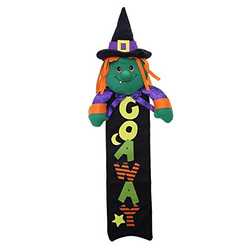 (Sala-Tecco - 1PC Witch Hat Hanging Ornament for Halloween Decoration Festival Halloween Doll Craft DIY Home Party)