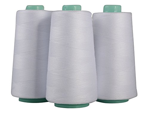 Serger Polyester Threads - Sewing & Quilting 30000 Yard All Purpose Value Pack (5 x 6000 Yards, - Serger 5 Thread