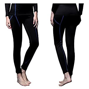 FITEXTREME Womens MAXHEAT Fleece Long Johns Thermal Underwear Bottom Black M