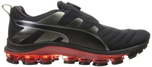 PUMA Mens Voltage Disc Cross-Trainer Shoe Puma Black/Red Blast HY75ba1tq