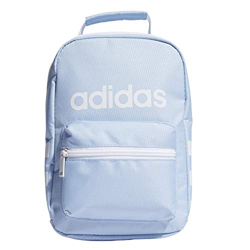 adidas Unisex Santiago Insulated Lunch Bag, Glow Blue/White, ONE SIZE