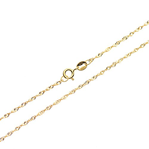 Sterling Silver 1mm Singapore Chain - 4