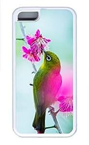 iPhone 5c case, Cute Bird In The Tree iPhone 5c Cover, iPhone 5c Cases, Soft Whtie iPhone 5c Covers