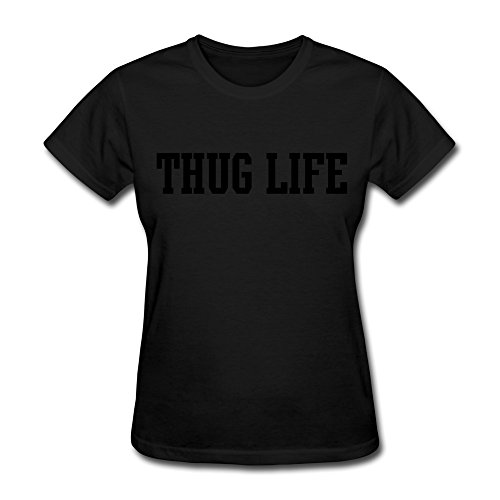 CHADLAVIGNE 100% Cotton Women's Thug Life New T-shirt