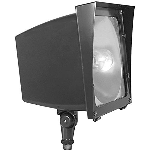 150w Quad Floodlight Halide Metal - RAB 150 Watt Metal Halide Floodlight Quad Tap w/ Lamp Bronze 120-277V