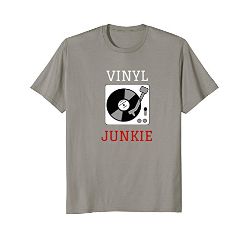 Mens Vinyl Junkie Record Collector DJ T Shirt 2XL Slate (Collector Record)