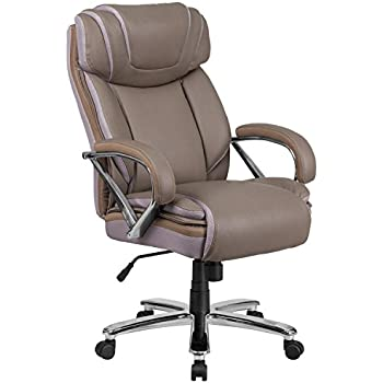 Flash Furniture Hercules Series lb Taupe Leather Executive Swivel fice Chair with Extra Wide Seat