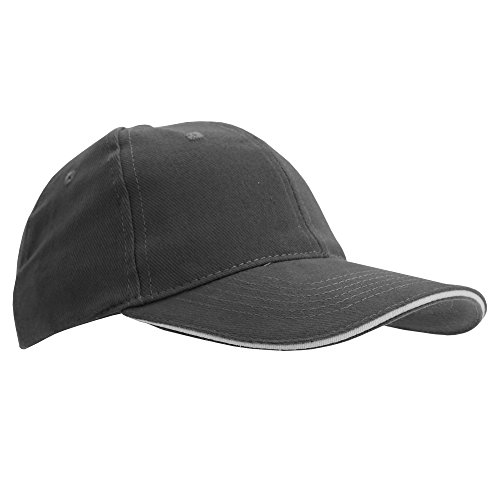 SOLS Unisex Buffalo 6 Panel Baseball Cap (One Size) (Dark Grey/Light Grey)