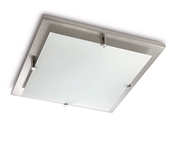 Plafoniere Quadrate Da Soffitto : Philips cross lampada quadrata da soffitto lampadina inclusa