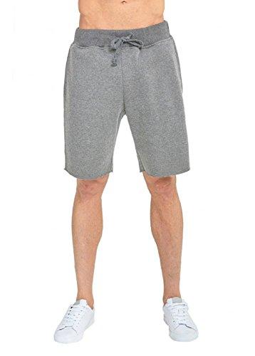 JMR Men's Fleece Sweat Pants Jogger Running Shorts (2X-Large, Heather Grey)