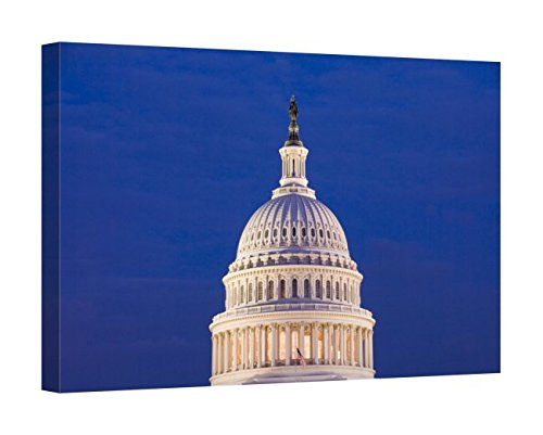 Easy Art Prints Lee Foster's 'The Dome of The Capitol Building' Premium Canvas Art 16 x 24