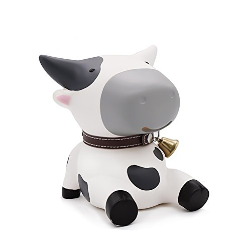 Cute Cow Piggy Bank, Cow Bank Toy Coin Bank Decorative Saving Bank Money Bank Adorable Cow Figurine for Boy Girl Baby Kid Child Adult Cow Lover by DomeStar (Bank Cow)