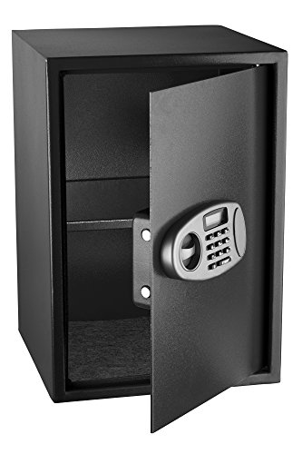 AdirOffice Security Safe with Digital Lock, Black, 2.32 Cubic Feet (Union 0.5' Black)