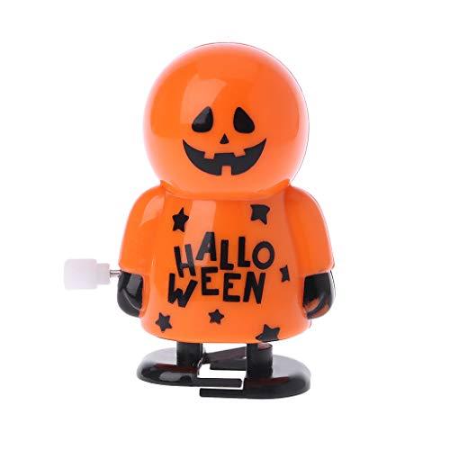 Yaonow Halloween Wind-up Toy,Clockwork Walking Pumpkin Skeleton Educational Toy Prank Game Supplies