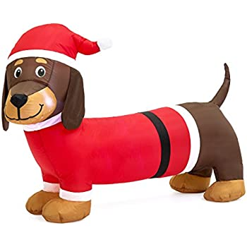 Best Choice Products Dog Inflatable Holiday Air Blown Outdoor Christmas Decor