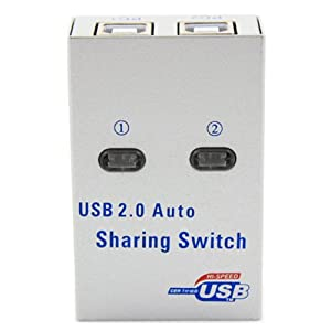 SANOXY 2 Port USB 2.0 Auto Sharing Switch Hub to PC to 1 Printer/Scanner