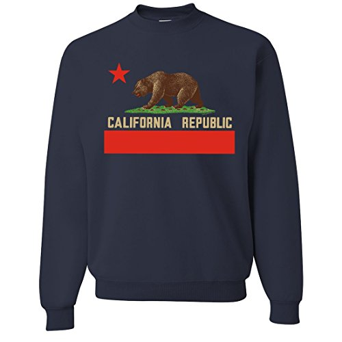 Dolphin Shirt Co California Republic Bear Flag Crewneck Sweatshirt - Navy Small