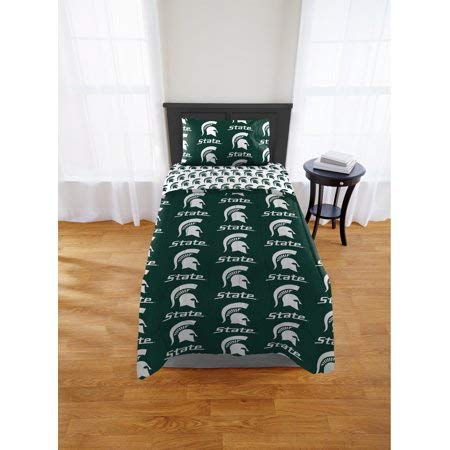 Official Michigan State Spartans Twin Bed in Bag Set
