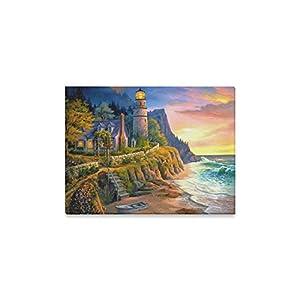 Artwork Seascape Lighthouse Custom Canvas Print Wall art Painting 16