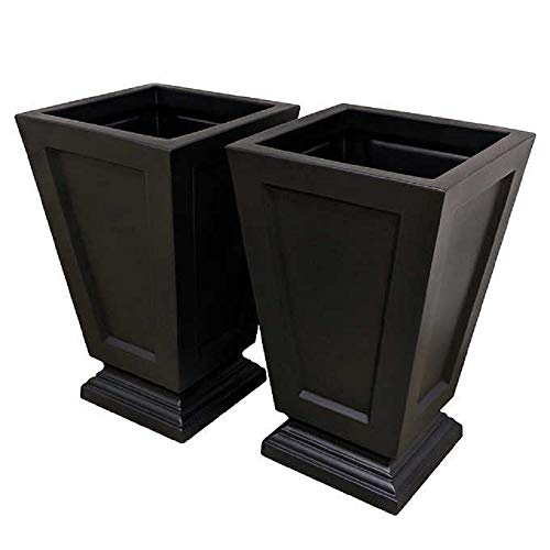 Aberdeen 63.5 cm (25 in.) Tall Black Planter, 2-Pack for sale  Delivered anywhere in Canada