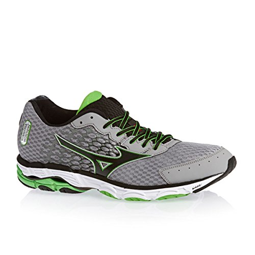 Mizuno Wave Inspire 11 Road Running Shoes Alloy/Black/Green Mens Alloy/Black/Classic Green KLt0YOTRV